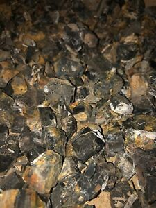 Whitby Jet Rough Raw Unpolished Pieces Mixed Sizes. Low Grade X 4 Pieces