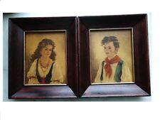 Ann Allaben set 2 Art Print Picture Portrait Decor gypsy boy Chiko & Elena EG Co