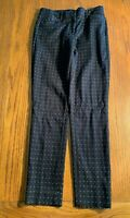 Womens Size 2 Tall White House Black Market Polka Dot Slim Ankle Pants