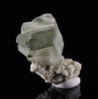 ADULARIA w CHLORITE Raw Crystal - Housewarming Gift, Home Decor, Raw Stones 3183