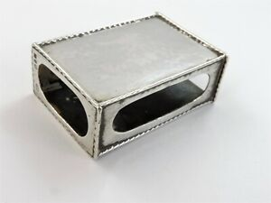 Beautiful OMAR RAMSDEN SILVER MATCH BOX HOLDER, 1927 Arts & Crafts