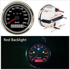 IP67 Waterproof 85mm LED Motorcycle Scooter GPS Speedometer Odometer 200km/h kph