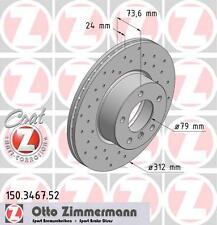 BMW E92/E93 3 SERIES SET ZIMMERMANN FRONT SPORT BRAKE DISCS & PADS (34116774875)
