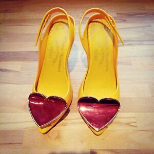 Vivienne Westwood Anglomania Melissa Red Heart Shoes UK 5 DESIGNER Wedding