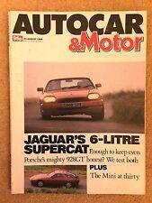 AUTOCAR MAGAZINE 23-AUG-89 - Porsche 928 GT, Jaguar XJR-S V12, Avanti Coupe