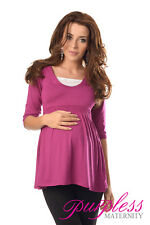 Marvellous Maternity Top Tunic Pregnancy Clothing Size 8 10 12 14 16 18 5200 Dark Pink UK 14