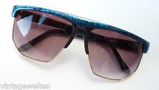 Eschenbach Sonnenbrille XXL groß 100% UV gold türkis schwarz Vintage neu size L