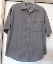 HARLEY-DAVIDSON GENUINE MOTOR CLOTHES Wash Denim Shirt Biker Blues S/S Gray L