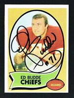 Ed Budde signed autograph auto 1970 Topps Football Trading Card #77
