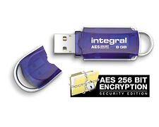 Integral 8GB Courier USB Stick with Secure Encryption.