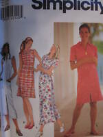 UNCUT Simplicity Pattern 7584 Misses Spring Summer Pullover Dress Sewing OOP SEW