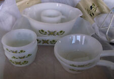 Anchor Hocking Fire King Suburbia Meadow Green 8 Pc Lot - Great Pieces!!