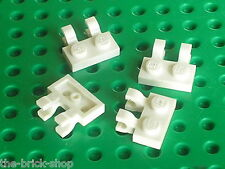 LEGO white Plate 1 x 2 with Clips ref 60470 /Set 8099 10196 8031 10213 7754 8019