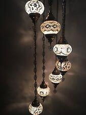7-BALL, GLOBE TURKISH MOSAIC CHANDELIER, 6 Different Designs