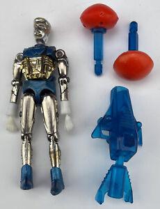 Vintage 1976 Mego Micronauts Galactic Warrior Robot Blue w/ Launcher 2 Missiles