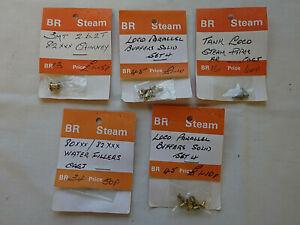 CROWN LINE OO GAUGE 5 PACKS OF B.R. STEAM LOCOMOTIVE DETAILS [SEALED]