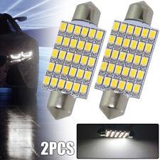 2x 30 SMD Bulb 42mm LED DOME Festoon Reading License Plate Light Warm White 12V
