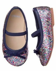 NWT Gymboree Back to Blooms Sparkle Dress Shoes Flats Toddler 4 6 7
