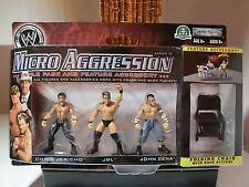 wwe micro aggression series 10 cena, jeicho, jbl wrestling figur moc ovp