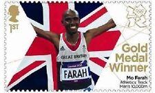 UK Team GB Gold Medal Winner Single Stamp - Mo Farah Men's 10000m MNH 2012