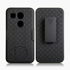 SLIM SHELL HOLSTER BELT CLIP COMBO CASE WITH KICKSTAND FOR GOOGLE LG NEXUS 5X