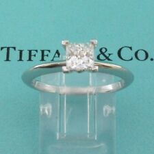 TIFFANY & Co. Platinum .58ct Princess Cut Diamond Engagement Ring 7