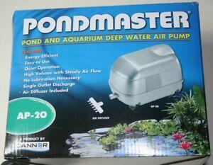 PONDMASTER Pond & Aquarium Deep Water Air Pump AP 20  New Unopened