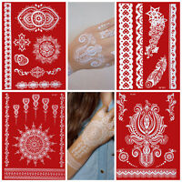 Temporary Tattoos Weiss Tattoo Set White Lace Handrücken Hand Henna Caro_weiss_4