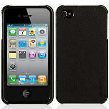 NEW GRIFFIN ELAN FORM IPHONE 4 4S HARD LEATHER SNAP ON CASE COVER BLACK GB01763
