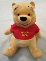 "Disney Winnie the Pooh Soft Toy Plush in Red T Shirt Walt Disney 17"" 44cm"