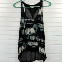 Urban Outfitters silence + Noise Sheer split Back Tank Top Women's Small Teal bl