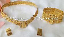 Trabzon Set bijoux tressés 24 CARATS EN OR GP doré Marriage mariée Henné