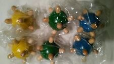 """Lot of 6 Wooden spiked Foot Body Hand Acupoint 2"""" Massage Balls"""