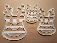 Rudolf Reindeer Christmas Shape Cookie Cutter Dough Biscuit Pastry Fondant Stamp