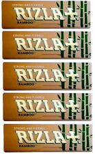 RIZLA BAMBOO STRONG & FLEXIBLE SMOKING CIGARETTE TOBACCO ROLLING PAPERS 5 PACKS