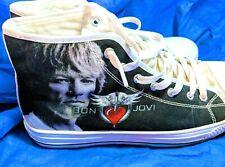 Mens BON JOVI Sneakers 8 Shoes Lace Up Athletic EU 40 Unbranded Black White