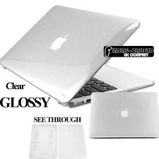 New Crystal Clear Glossy See Through Hardshell Hard Case Cover For Apple MacBook