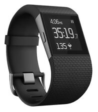 Fitbit Surge Smart Fitness Watch, Size L - Black