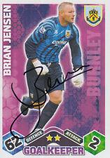 Burnley mano firmado Brian Jensen Match Attax Tarjeta 09/10.