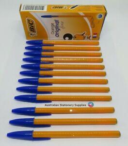 12 x BLUE Bic Original Classic Pens Fine Point 0.7mm in stock