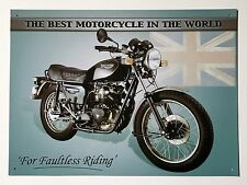 Triumph Best Motorcycle in the World Tin Metal Wall Sign
