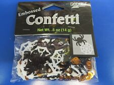 Spiderweb Spiders Holiday Carnival Halloween Party Decoration Embossed Confetti