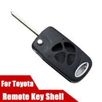 Folding Flip Remote Key Shell Case For Toyota Camry Reiz Corolla Crown 4 Buttons