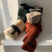 New Fashion Soft Scarf Women Knitting Wool Knitted Thicken Warm Shawl Neck Scarf