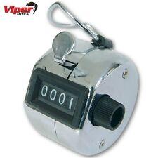 Viper Táctico Cromo Mano Tally Contador de número de Seguridad Portero Golf Clicker