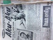 T1-2 ephemera  1953 advert men only magazine