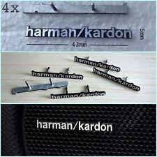 4PCS harman/kardon Car Stickers Audio harman kardon Speaker Badge Emblem 2PINS
