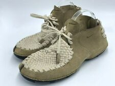 Nike Considered 10.5 Khaki Baroque Brown Suede Leather Woven Hemp Boots Shoes