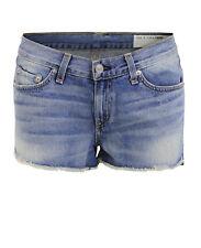RAG & BONE Jeans Shorts Fransen blau La Quinta W1907K273LAQ Gr. 25 * 57461 NEU