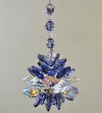 Large Crystal Cluster Suncatcher made with Swarovski Tanzanite & Crystal AB